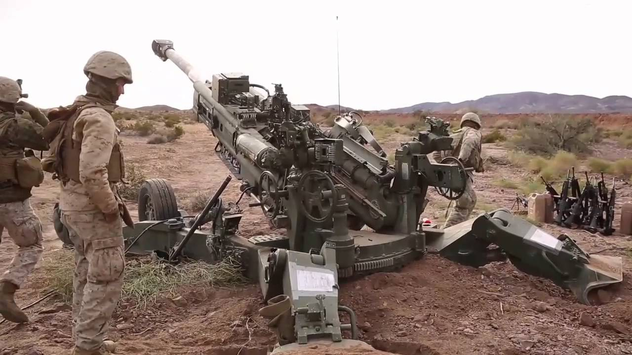 U.S. Marine Corps Artillery Fire Support! - YouTube