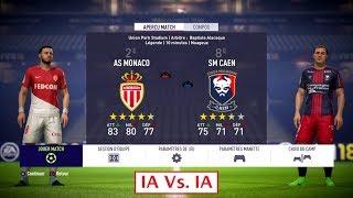 Monaco - Caen [FIFA 18] | Ligue 1 Conforama 2017-2018 (10ème Journée) | IA Vs. IA