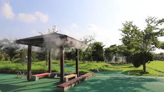 [안개핀조경]서구 풍암생활체육공원 쿨링포그 시공