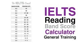 IELTS Reading Band Score Calculator GT
