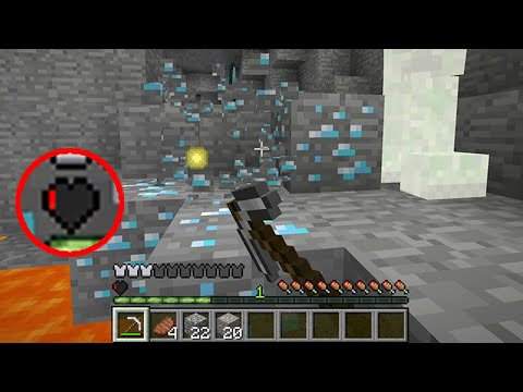 Minecraft Hardcore but I only have 1% health... thumbnail