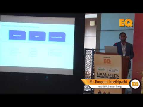 Boopathi Neethipathi, Head O&M, Enerparc Energy at EQ Solar Assets Conference, Delhi