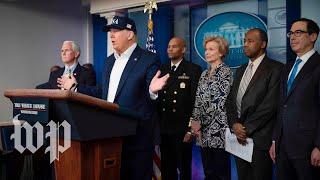 WATCH: Trump gives coronavirus update at White House