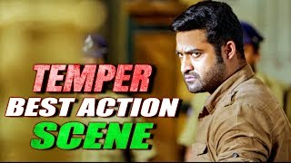 Jr NTR Best Action Scene From Temper | South Indian Hindi Dubbed Best Action Scenes