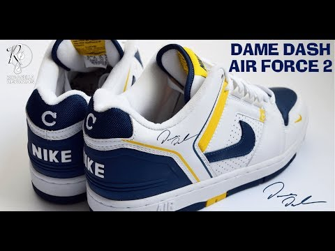 REVIEW: DAME DASH NIKE AIR FORCE 2 | UNRELEASED DAMON DASH CEO COLLABORATION SAMPLE