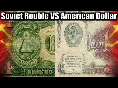 177. Mighty Soviet Rouble Versus American Dollar. USSR Currency