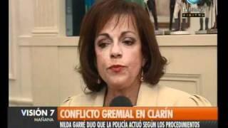 Visión Siete: Garré, sobre el conflicto gremial en Clarín