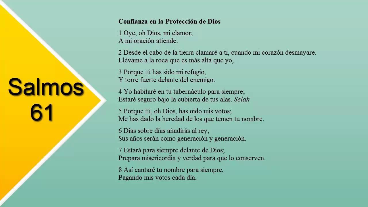 Salmos 61 - Confianza en la Protección de Dios - YouTube