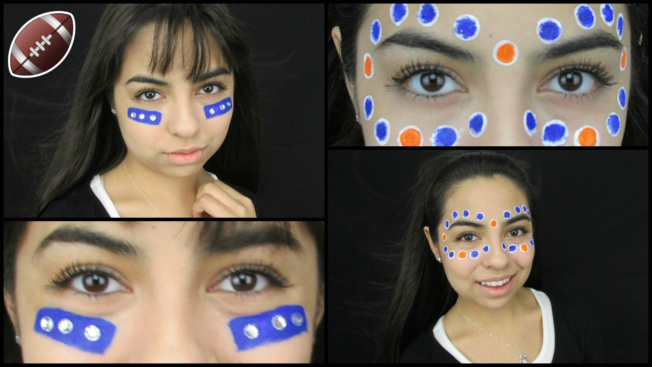 Blue and white face paint ideas