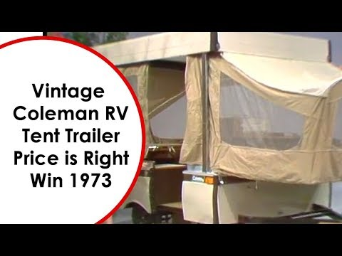 Vintage Coleman RV Tent Trailer Win Price is Right 1973