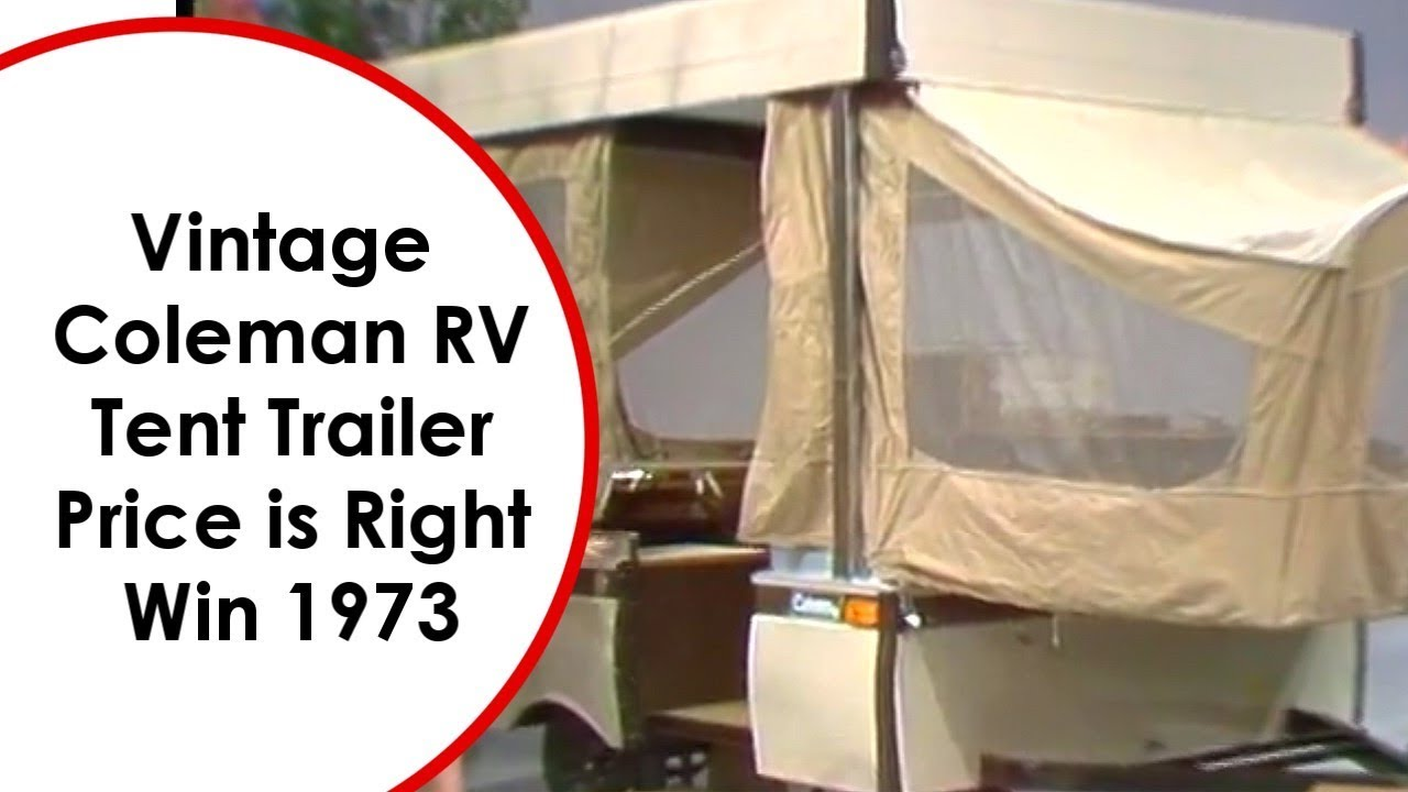 Vintage Coleman RV Tent Trailer Win Price is Right 1973  sc 1 st  YouTube & Vintage Coleman RV Tent Trailer Win Price is Right 1973 - YouTube