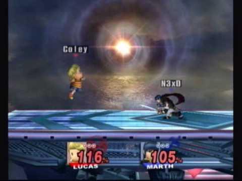 Super Smash Bros Brawl NeXd (Marth) Vs Rebecca (Lu...