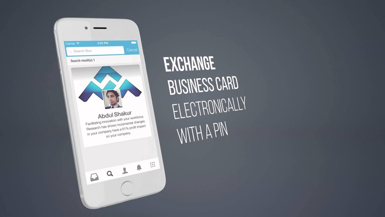 Bisc App - Virtual Business Card App - YouTube