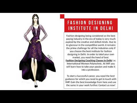 Best Fashion Designing Institute In Delhi Youtube