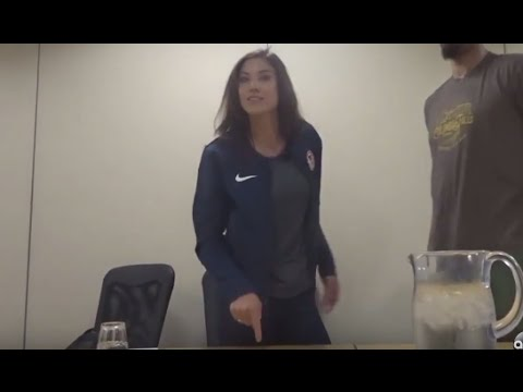 Hope Solo Live Reaction To US Soccer Suspension