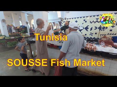 🇹🇳 SOUSSE🐟Amazing Street Fish Food Market In TUNISIA
