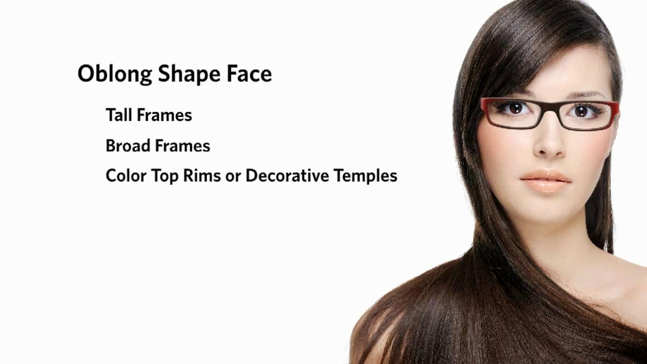 Frames for an Oblong Face Shape - Female - YouTube