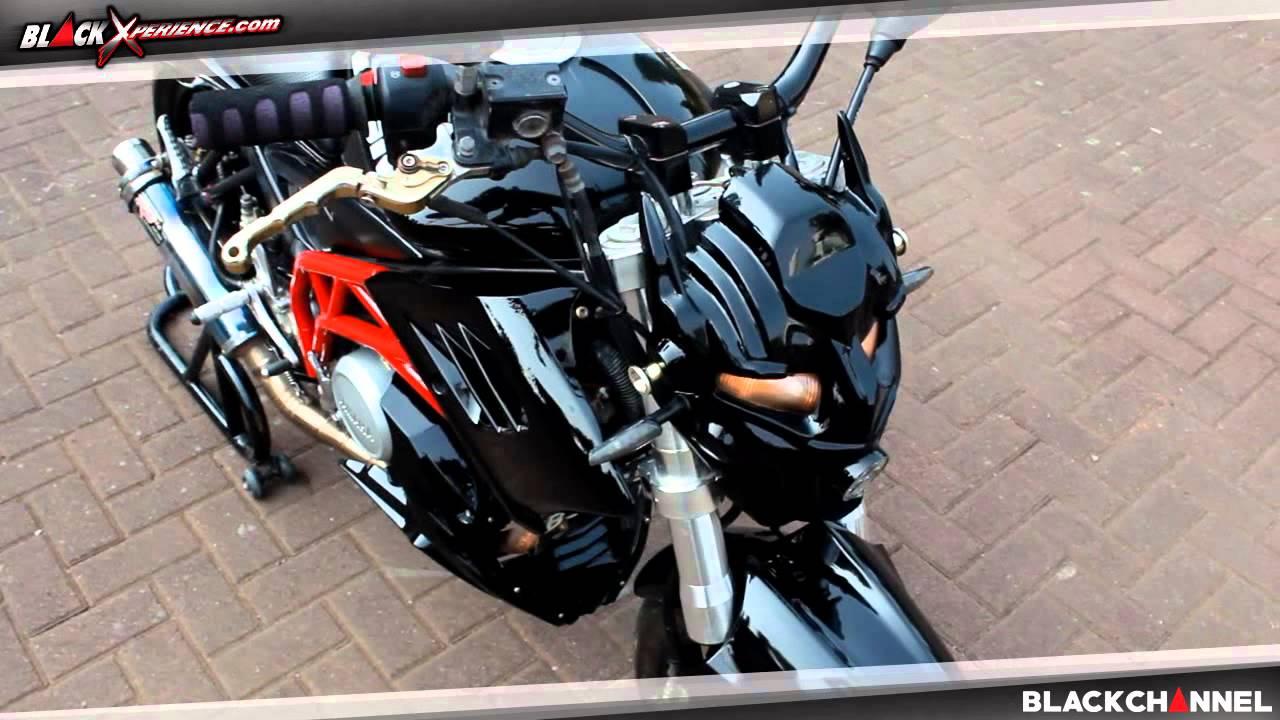 90 Modifikasi Motor Vixion Ala Street Fighter Terbaru Ketoprak Motor