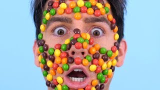 Skittles Glued Everywhere!