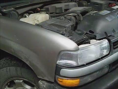 Chevrolet Silverado K1500 `00 w 5.3l coolant smell leak water pump remove pt 1