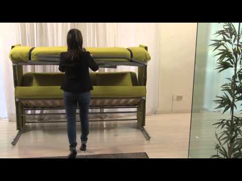 Newmar Motorhome Couch Converts To A Bunk Bed Doovi