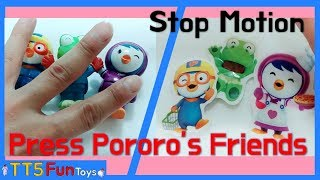Funny Stop Motion mixed Video - Press Pororo's Friend and Learn Colors(찌부되는 뽀로로와 친구들)