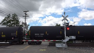 UP 4036 Warm Springs Manifest West Slow, 20th St. Railroad Crossing, Sacramento CA