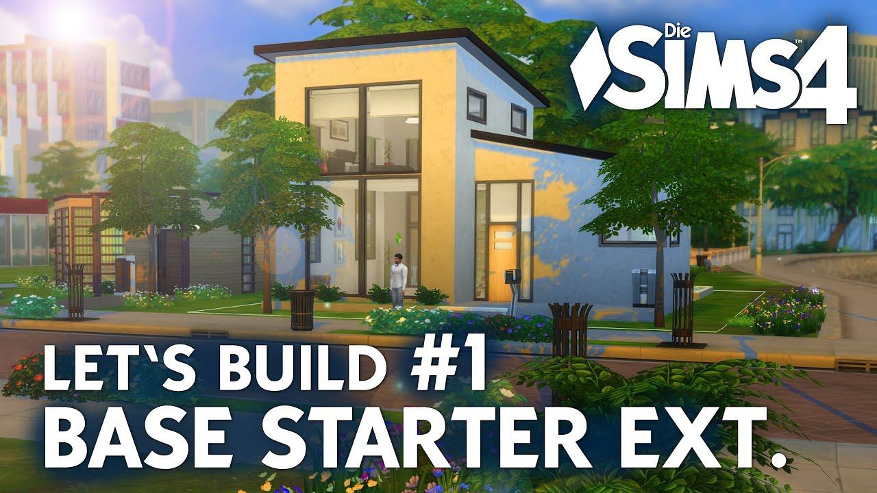 die sims 4 let 39 s build base starter extended 1 haus bauen ohne packs youtube. Black Bedroom Furniture Sets. Home Design Ideas