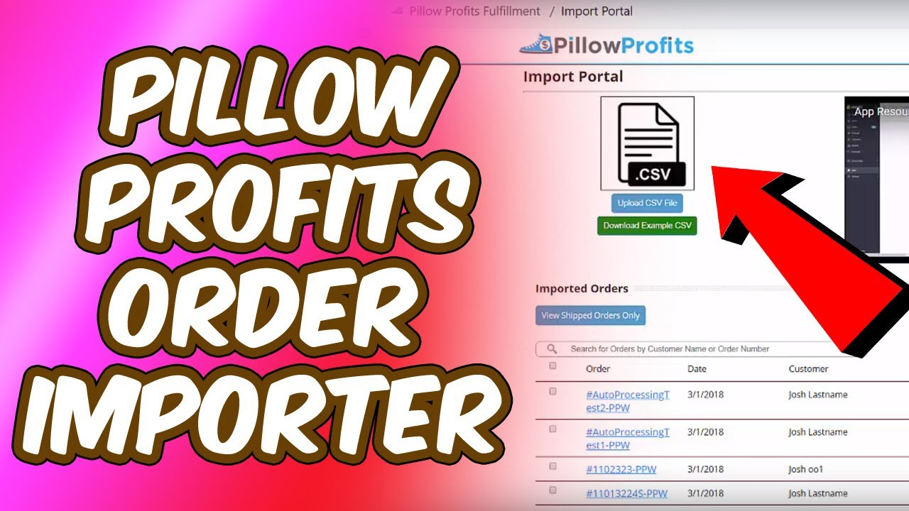 Pillow Profits Order Importer