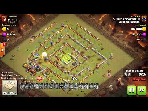 Clash of clan War TH11 Max Level, How Lucky We Got, Ultimate Skills, COC 3 star th11