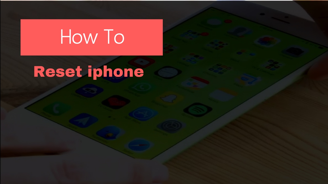 How to reset iphone 4s to factory settings without apple id