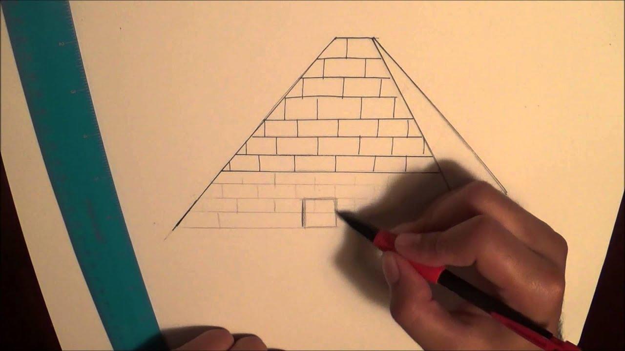 Egypt Pyramids Drawings