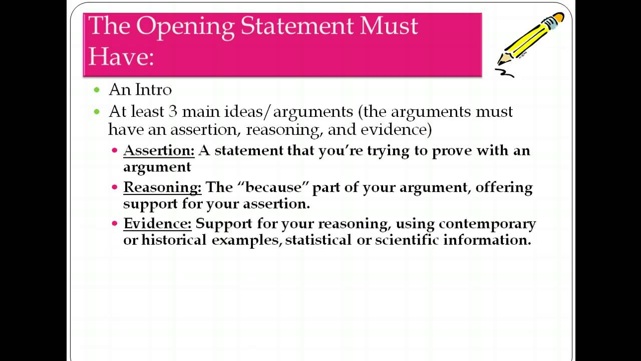 How To Write An Opening And Closing Statement Youtube