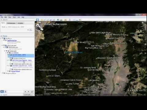 MineCache com Gold Prospecting Locations in Google Earth