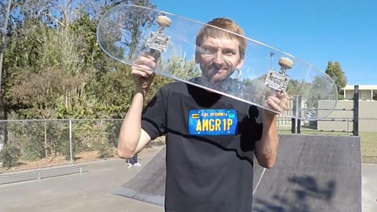 bulletproof glass skateboard
