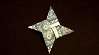Dollar Origami Ninja Star Tutorial - How to make a Dollar Ninja Star