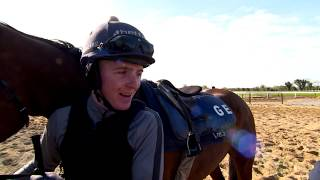 Katie Walsh rides Tiger Roll at Gordon Elliot's Yard ahead of the 2019 Grand National