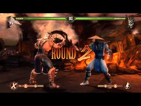 Mortal Kombat 9: How to Beat Shao Kahn in Story Mode(End Game, No Spoilers) w/Raiden