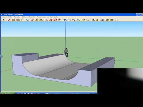How to make a half pipe on google sketchup