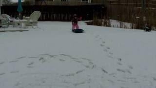 Carleee trying to sled Thumbnail