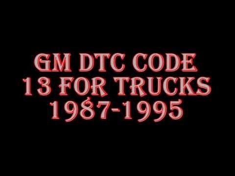 GM Truck DTC Code 13