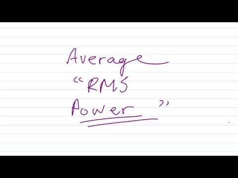 "What is ""RMS"" Power?"