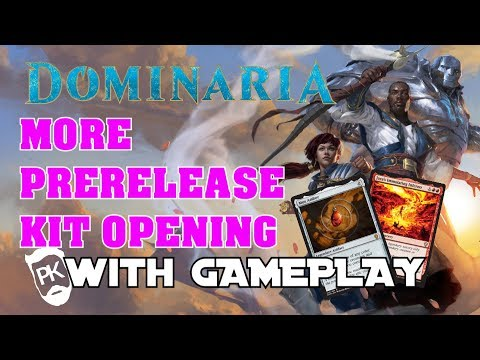 MORE MTG Dominaria Prerelease Kit Opening - With Pre-Prerelease Gameplay - Legends Matter