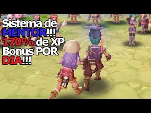Ragnarok M Eternal Love: Sistema de MENTOR!!! Buff de 170% de XP + bônus de Up e Zeny!!! Sou PHD!!! - Omega Play