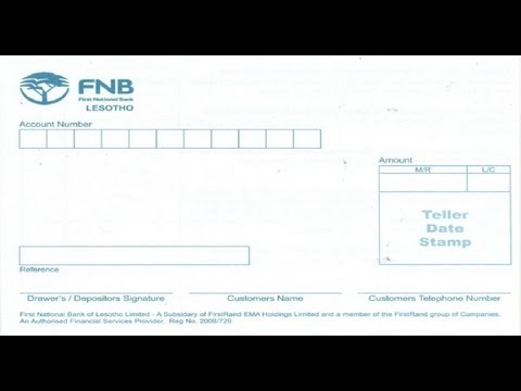 Ls How To Fill Cash Deposit Of First National Bank Lesotho