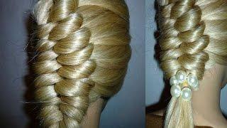 Причёска для средних, длинных волос. Красивая коса.Причёски для девочек в школу