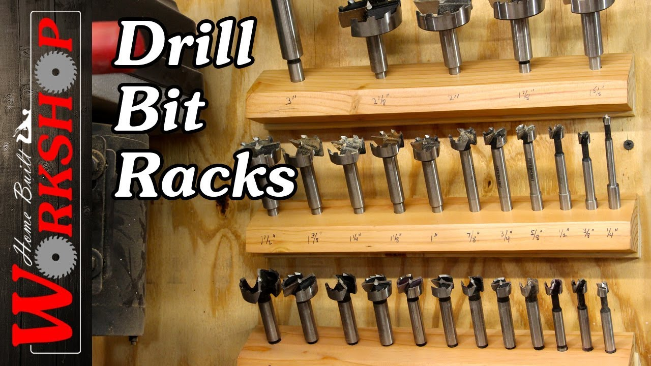 Portable Drill Bit Storage : How to make a drill bit rack youtube