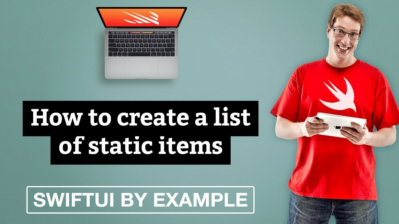 How to create a list of static items - SwiftUI by Example