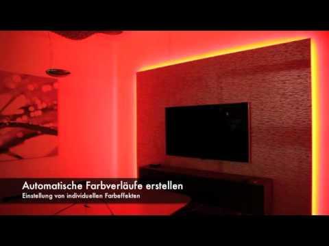 licht ber wlan steuern mit smartphone oder tablet youtube. Black Bedroom Furniture Sets. Home Design Ideas