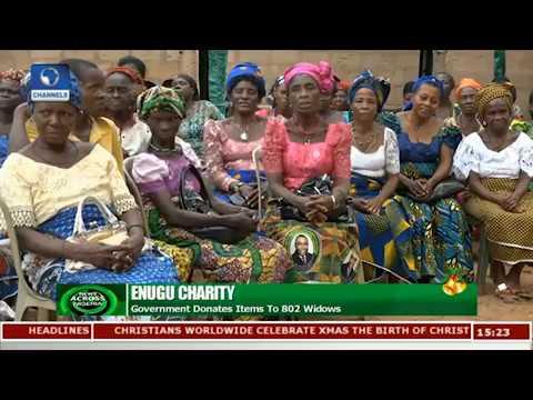 Enugu Govt Donates Food Items To Over 800 Widows |News Across Nigeria|